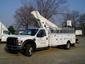 The flagship of our aerial service truck fleet